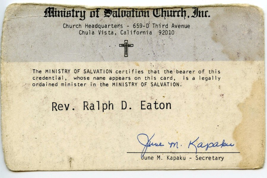 rev. ralph's credentials #1